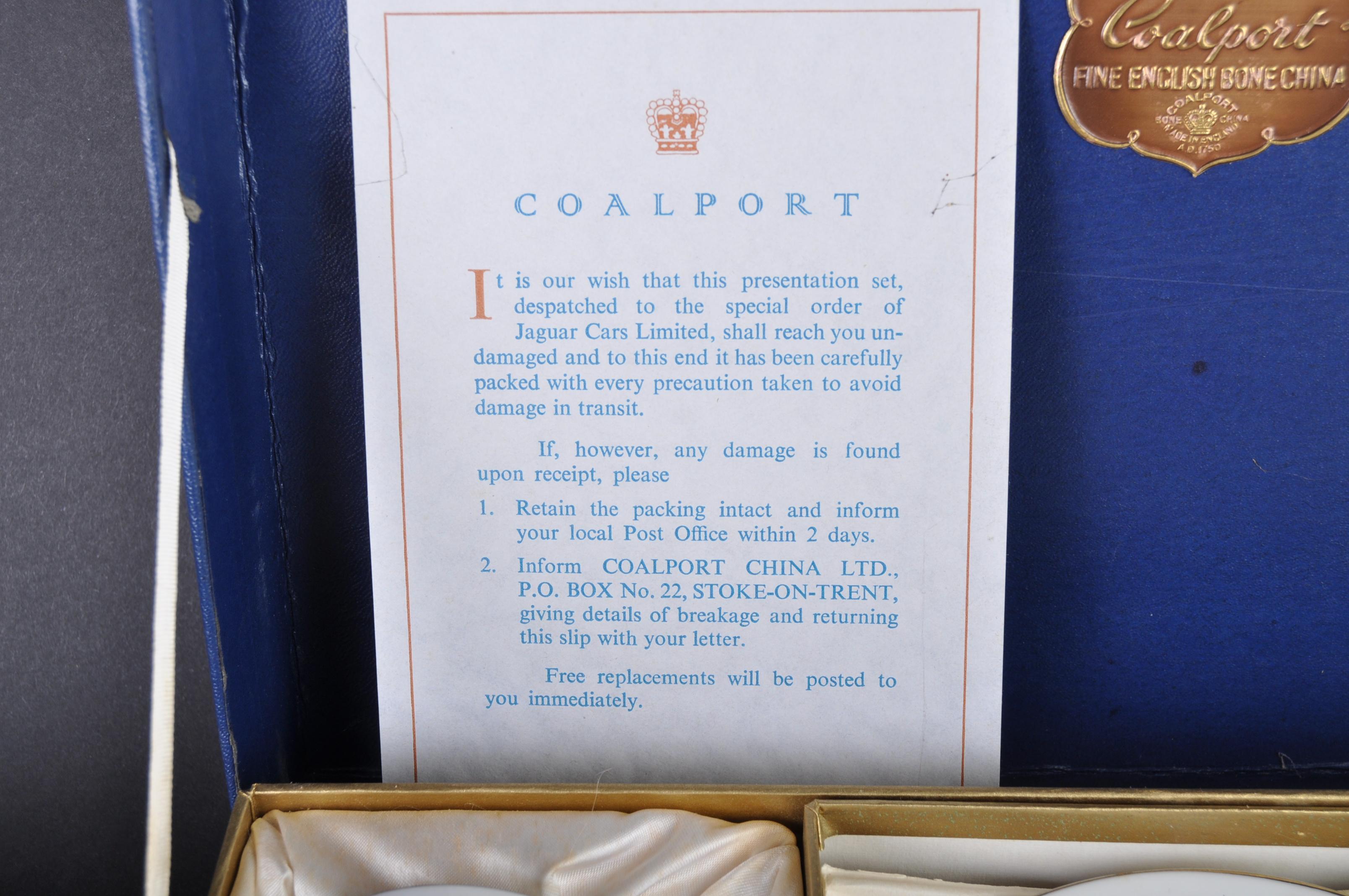 JAGUAR - COALPORT JAGUAR CAMELOT PATTERN TEA SERVICE - Image 3 of 9