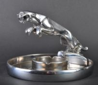 JAGUAR - 1950S CROSBY MASCOT TOPPED ASHTRAY
