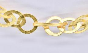 18CT GOLD NECKLACE CHAIN - PIERCED LOZENGE LINKS