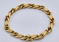 18CT GOLD FRENCH FANCY LINKED BRACELET