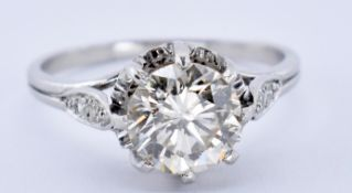 ANTIQUE 18CT GOLD AND DIAMOND SOLITAIRE RING