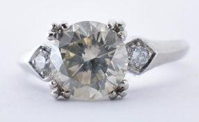 PLATINUM AND DIAMOND SOLITAIRE RING 1.5CT
