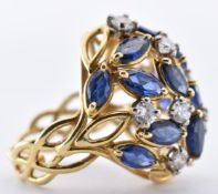 ALAN MARTIN GARD 18CT GOLD SAPPHIRE & DIAMOND RING