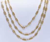 FRENCH 18CT GOLD LONG GUARD CHAIN NECKLACE