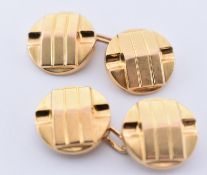 18CT GOLD FRENCH ART DECO CUFFLINKS