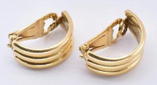 PAIR 18CT GOLD ZOLOTAS CLIP HOOP EARRINGS