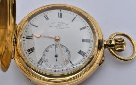 EDWARDIAN 18CT GOLD MINUTE REPEATER HUNTER POCKET WATCH