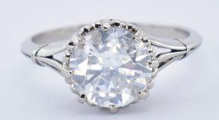 PLATINUM AND DIAMOND SOLITAIRE RING