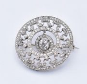 EDWARDIAN BELLE EPOQUE 18CT GOLD AND DIAMOND BROOCH