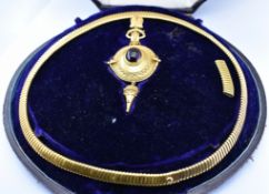 VICTORIAN 19TH CENTURY HIGH CARAT GOLD JEWELLERY SUITE