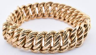18CT GOLD FRENCH GOURMETTE BRACELET