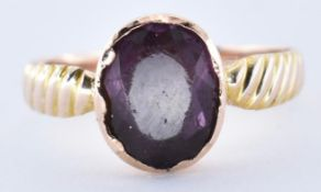 ANTIQUE ROSE GOLD AND AMETHYST RING