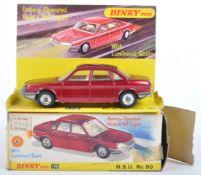 ORIGINAL VINTAGE DINKY TOYS N.S.U DIECAST MODEL CAR NO.176