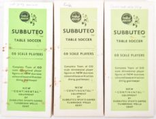 COLLECTION OF 1960'S BOXED SUBBUTEO TABLE SOCCER TEAMS