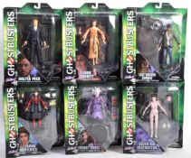 COLLECTION OF X6 DIAMOND SELECT TOYS GHOSTBUSTERS FIGURES