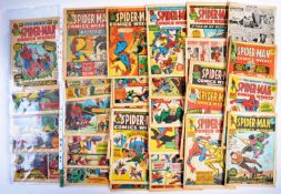 VINTAGE COMIC BOOKS - NEAR COMPLETE RUN OF SPIDER-MAN COMICS WEEKLY