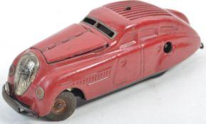 SCARCE VINTAGE SHUCHO MADE TINPLATE CLOCKWORK MODEL CAR