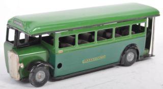 VINTAGE TRI-ANG MINIC TOYS CLOCKWORK TIN PLATE GREEN LINE BUS