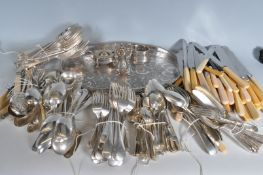 LARGE COLLECTION OF SILVER PLATE ITEMS