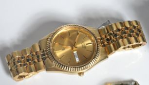 18CT GOLD AND DIAMOND LADIES ROLEX OYSTER PERPETUAL WRIST WATCH