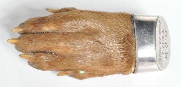 HALLMARKED STERLING SILVER TAXIDERMY PAW BROOCH