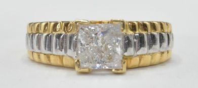 GENTLEMAN'S 18CT GOLD AND DIAMOND RING