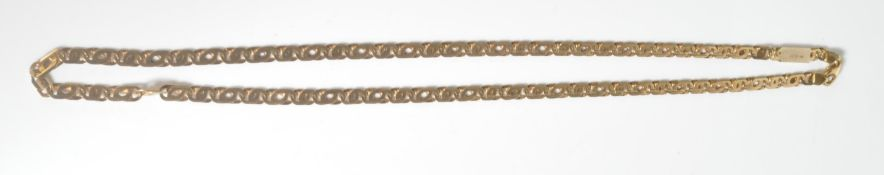 19CT GOLD FLAT LINK NECKLACE CHAIN