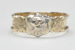 19TH CENTURY VICTORIAN 1858 SKULL & BUCKLE MOURNING RING