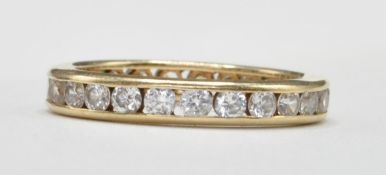 14CT GOLD AND CZ FULL ETERNITY RING