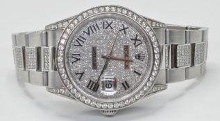 LADIES DIAMOND SET ROLEX DATEJUST WATCH