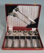 SET OF EARLY 20TH CENTURY HALLMARKED STERLING SILVER HANDLED SPOONS