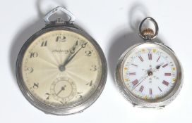 SILVER 925 POCKET WATCH ASPREY AND ANOTHER POCKET WATCH