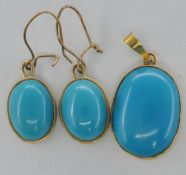 TURQUOISE AND GOLD JEWELLERY SUITE