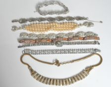 GROUP OF VINTAGE BRACELETS AND NECKLACE