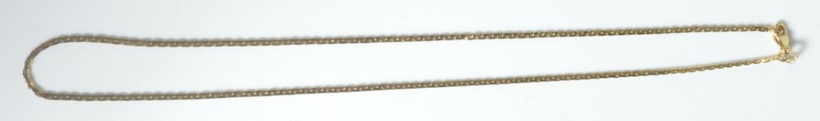 9CT GOLD NECKLACE WITH UNUSUAL ELONGATED LINK
