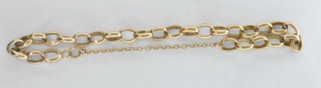 9CT GOLD OVAL LINK BRACELET