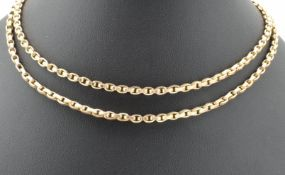 VICTORIAN 19TH CENTURY 9CT GOLD NECKLACE CHAIN