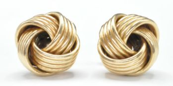 PAIR OF 9CT GOLD KNOT EARRINGS