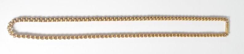 ANTIQUE 15CT GOLD FANCY LINK NECKLACE CHAIN