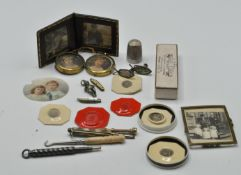 GROUP OF JEWELLERY FINDINGS AND RELATED ITEMS