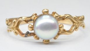 ANTIQUE GOLD AND PEARL RING