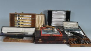 LARGE COLLECTION OF SILVER PLATE CUTLERY
