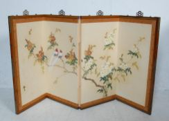 20TH CENTURY CHINESE ORIENTAL FOLDING SCREEN