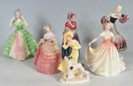 COLLECTION OF ROYAL DOULTON AND OTHER FIGURINES