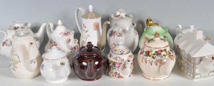 LARGE COLLECTION OF VINTAGE CERAMIC TEA POTS