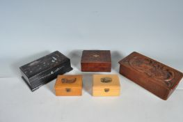 COLLECTION OF 20TH CENTURY VINTAGE BOXES.