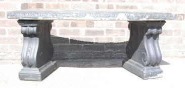20TH CENTURY STONE WARE / COMPOSITE BENCH