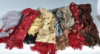 COLLECTION OF VINTAGE 1950S MOD STYLE TOOTLE SCARVES.