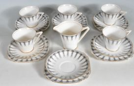 VINTAGE 20TH CENTURY CORINTH PORCELAIN TEA SET