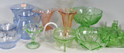 COLLECTION OF ART DECO STUDIO GLASS WARE